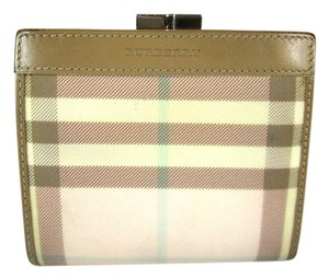Burberry Beige Leather & Pink