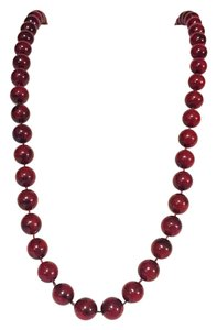Sarah Coventry vintage red plastic bead strand gold tone by Sarah Coventry