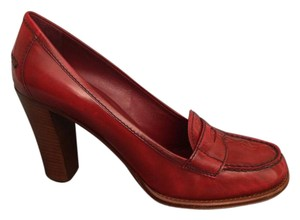 Prada Red/Cognac Pumps