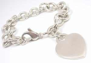 Tiffany & Co. Authentic Tiffany & Co Sterling Silver Heart Tag Charm Bracelet