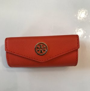 Tory Burch NWT TORY BURCH ROBINSON LIPSTICK CASE COVER BAG BLOOD ORANGE WITH MIRROR