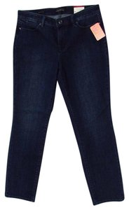 Talbots Slim Pockets Straight Leg Jeans-Dark Rinse
