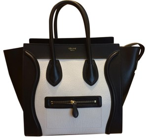 Céline Satchel in white and back