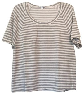 James Perse T Shirt gray & off white