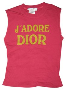 Dior Vintage Christian J Adore Tee Red T Shirt Faded Red