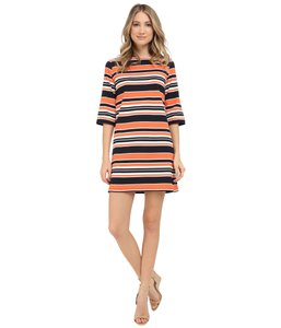 TRINA TURNER short dress salmon navy stripe Rivera on Tradesy