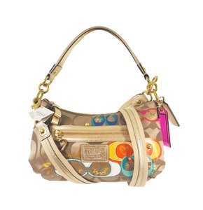 Coach Poppy Daisy Glitter Rare Convertible Cross Body Bag