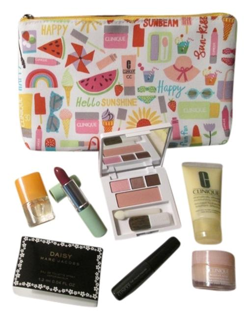Item - White Yellow Red Orange Pink Multicolor 8 Pc. Bundle Deal Includes: 1 Spring/Summer Makeup Skincare and Marc Jacobs And Cosmetic Bag