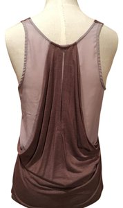 LAmade Top brown color and nudish grey