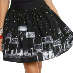 Hot Topic Night Sky Mini Skirt Black
