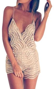 Luxxel Sequin Nude Sparkle Dress