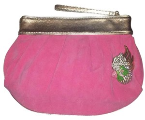 Lilly Pulitzer Pink, Gold Clutch