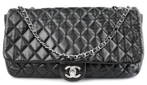 Chanel Boy Maxi Tote Double Caviar Shoulder Bag