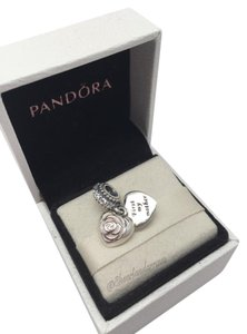 PANDORA Pandora cz Mothers rose pink charm in original gift pouch