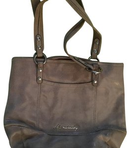 B. Makowsky Tote in Tan/goldish color