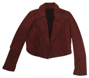 NSF red Leather Jacket