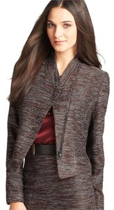 Ann Taylor brown black red flecks Blazer