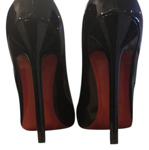Christian Louboutin Pigalle Patent Stiletto Black Pumps