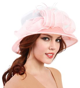 kentucky derby hat Kentucky Derby Feather detail ombre organza hat Church Hat
