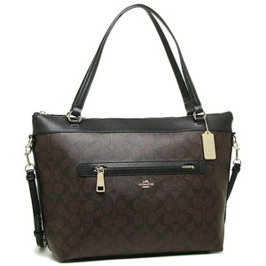 Coach Monogram Strap Adjustable Convertible Tyler Tote in Black