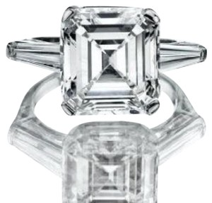 Other 2ct Asscher cut simulated diamond 925 engagement ring