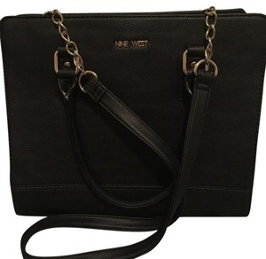 Nine West Tote Leather Zipper Middle Baguette