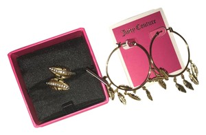 Juicy Couture Feather Earring and Ring