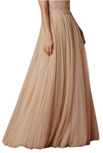 BHLDN Blush Nylon Tulle Ahsan (Skirt) 5089b Formal Wedding Dress Size 4 (S)