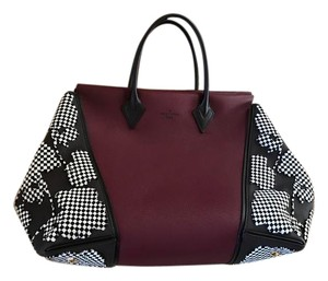 Louis Vuitton Tote in Burgundy/Black
