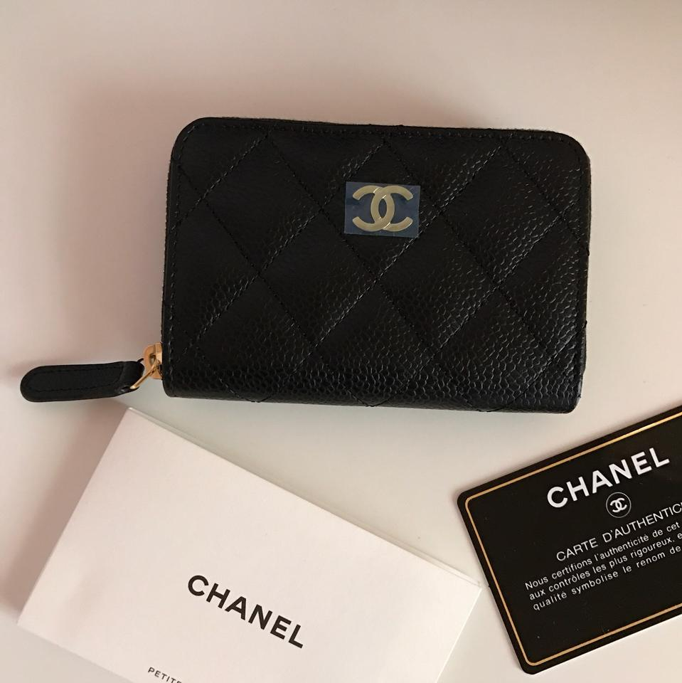 96497afb140c Chanel Black Classic Caviar Quilted Zip Coin Purse Wallet - Tradesy