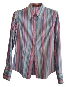 Thomas Pink Thomas Button Down Shirt Stripes Pink, blue, red, white