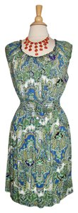 Faded Glory short dress Multi-Color Summer Paisley Green on Tradesy