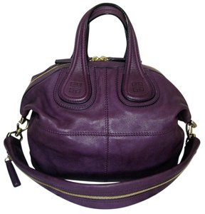 Givenchy Nightingale Small Discontinued Lambskin Tote in Purple