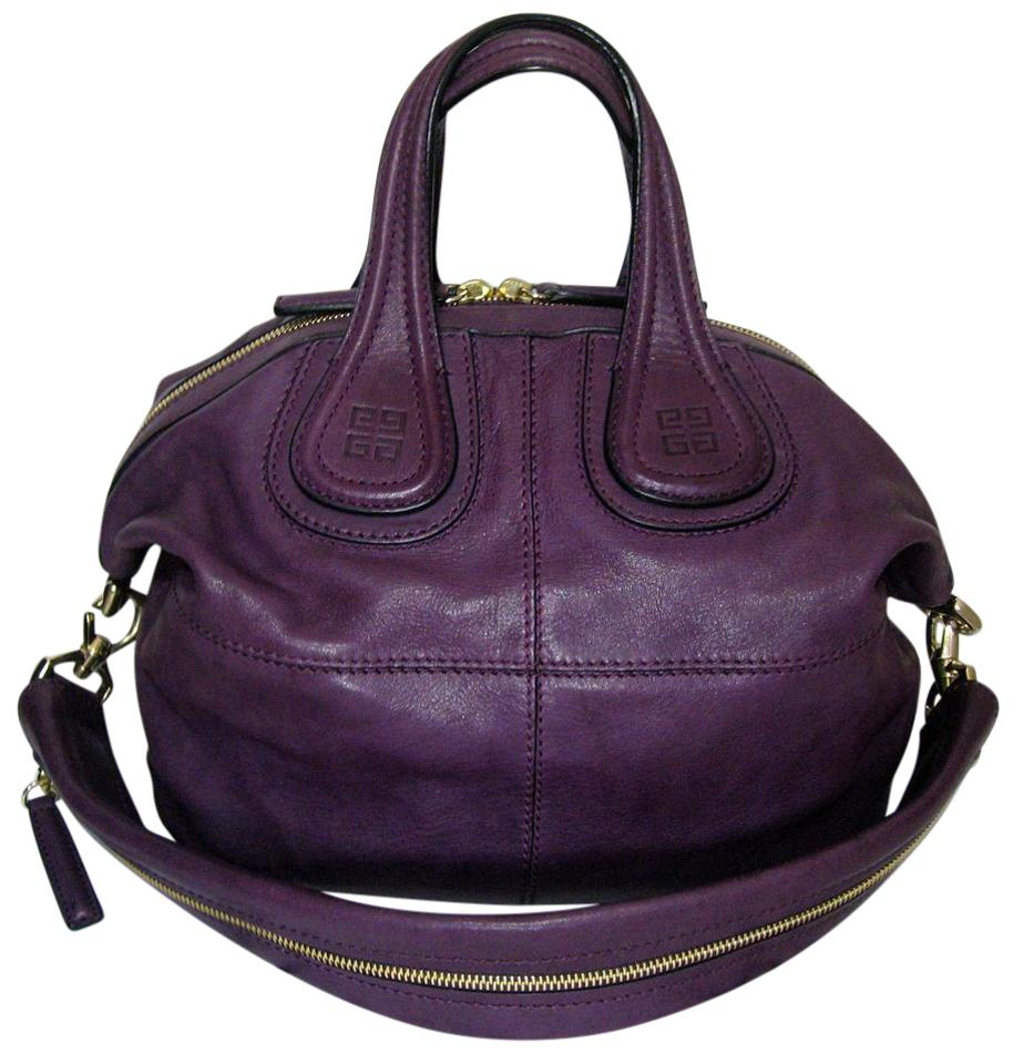 Givenchy Nightingale Small Discontinued Lambskin Tote in Purple Image 0 ... 9e12e9f7c6ed8
