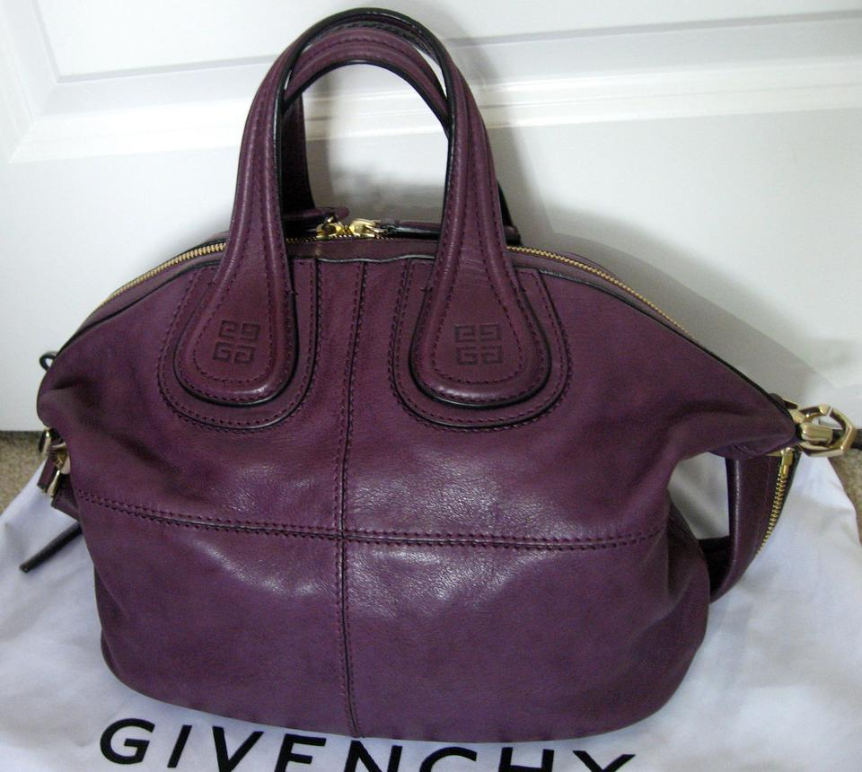 Givenchy Nightingale Small Discontinued Lambskin Tote in Purple Image 11.  123456789101112 865dae08278e2