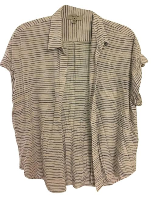 Item - White Button Up Cover Up Button-down Top Size 8 (M)