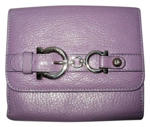 Salvatore Ferragamo Salvatore Ferragamo Leather Wallet Lilac Leather