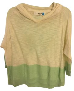 Anthropologie Colorblock Green Stripe Light Sweater