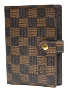 Louis Vuitton Agenda PM Damier Ebene Brown Check