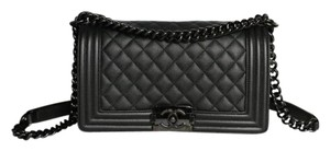 Chanel So Caviar Le Boy Quilted Cross Body Bag
