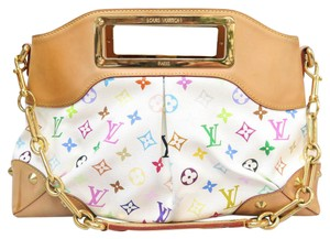 Louis Vuitton Lv Multicolore Judy Mm Satchel in white