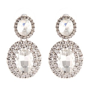 Earring Oval Drop Ball Wedding Crystal Bride wedding jewelry earring bridal crystal fall tear