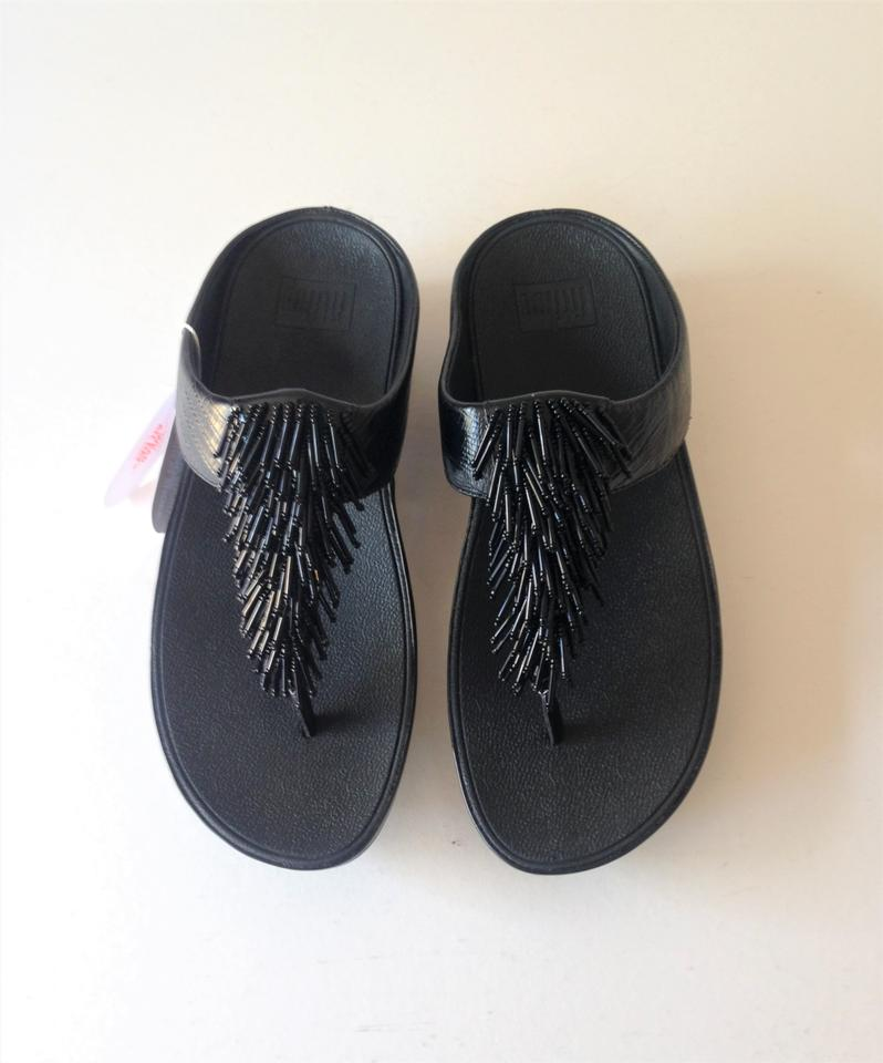 cfbef33e2 FitFlop Black New with Tags Cha Cha Flip Flops Sandals Size US 8 ...