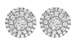Other 9MM Three Tier Round Genuine Diamond Stud Earring 1.35ct.