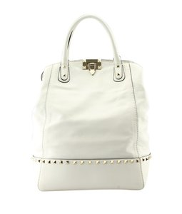 Valentino Leather Satchel in White