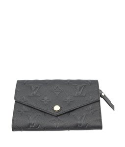 Louis Vuitton Louis Vuitton Black Empreinte Leather Envelope Wallet (120868)
