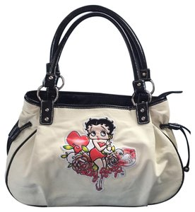 Betty Boop Satchel in cream, black,red