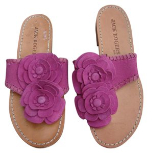 Jack rogers pink with suede madras flowers sandals size us 6 regular jack rogers leather sole 6m pink sandals mightylinksfo Gallery
