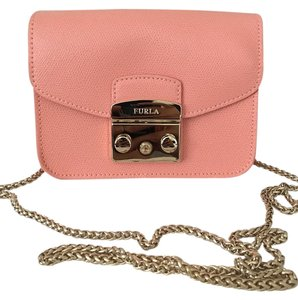 Furla Metropolis Leather Mini Chain Cross Body Bag
