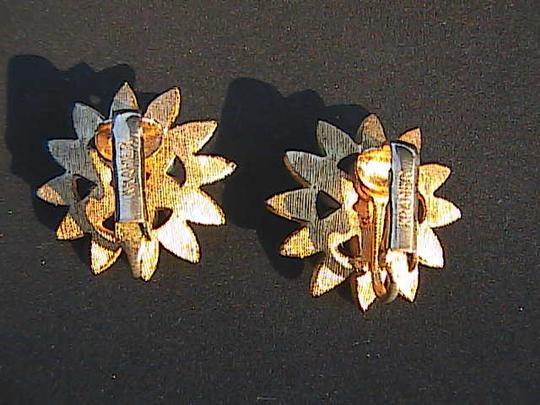 Krammer Krammer Gold Tone Faux Clip On Earrings